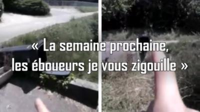 Un homme pète un plomb à cause de sa poubelle renversée