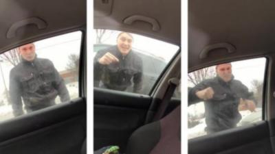 Pendant un road rage un père de famille explose la vitre d'un automobiliste à main nue