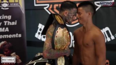 Un combattant MMA fait le malin mais va se faire exploser