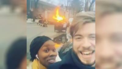 Ne jamais se prendre en vidéo devant des pompiers en intervention