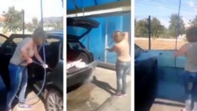 Si vous tenez à votre voiture ne laisser jamais cette femme la nettoyer