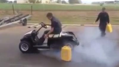 Quand on met un moteur de Hayabusa dans une voiturette de golf