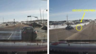 Un homme veut faire le malin en Porsche mais finit par arracher sa voiture