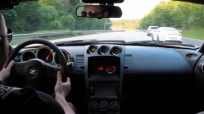 Une Nissan 350Z Procharger et une Porsche 991 GT3 se font ridiculiser lors d'une course sauvage
