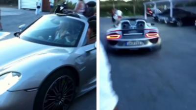 Voici ce qui arrive quand on fait le malin avec une Porsche 918 Spyder