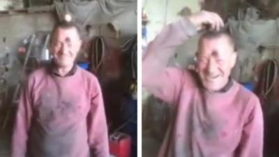 La blague de l'½uf sur la tête est la vidéo la plus drôle que vous verrez aujourd'hui