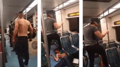 Un combattant MMA neutralise un mec drogué dans le métro