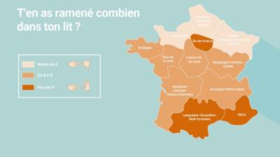 Quelle région de France est la plus chaude niveau sexe ?