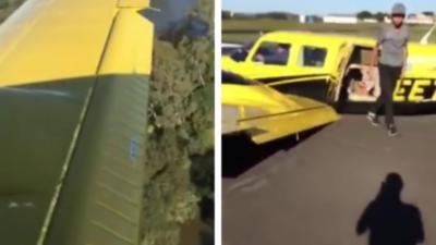 Un pilote d'avion contraint d'atterrir sans train d'atterrissage
