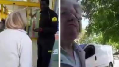 Une vieille femme raciste s'énerve violemment contre un vigile de supermarché à Grenoble