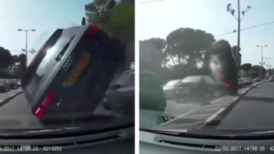 Le conducteur d'une Audi force le passage et ça se termine très mal pour lui