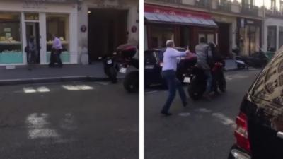 Un passant filme le braquage d'une bijouterie de luxe par un homme armé à Paris