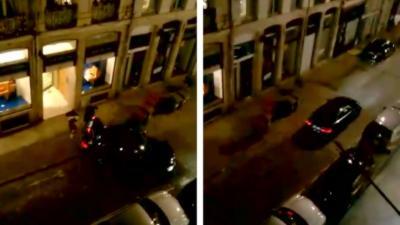 Un homme filme le braquage d'une boutique  Louis Vuitton depuis son appartement