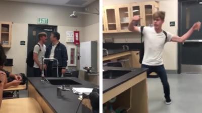 Un lycéen pète un câble et insulte violemment son professeur de physique