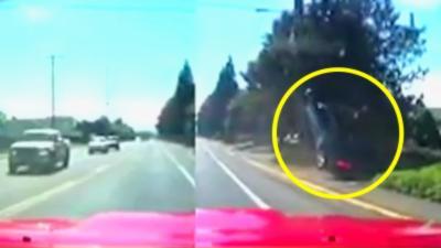 Un idiot en Camaro fait tout pour mettre à bout un automobiliste mais il se fait rattraper par le karma