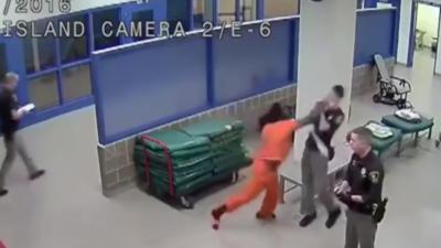 Un gardien de prison se fait violemment frapper au visage par un détenu de 17 ans