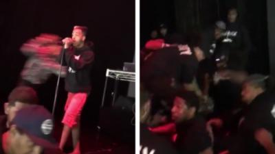 Le rappeur XXXTentacion reçoit une énorme droite d'un fan qui le met KO pendant un concert