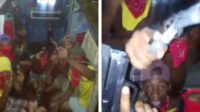 Des détenus d'une prison panaméenne se filment avec des armes à feu à la main