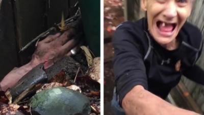 Un homme surprend sa voisine en train de faire des choses très étranges sous la clôture de son jardin
