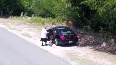 Un homme abandonne un chien sur le bord de la route et provoque la colère des internautes