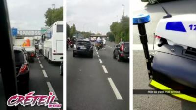 Il se fait arrêter par la police alors qu'il roule en hoverboard sur l'autoroute A4 près de Créteil