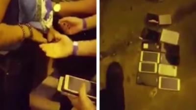 Une voleuse de téléphone se fait griller pendant un concert