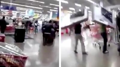 Un flashmob dégénère et les clients en profitent pour voler des TV