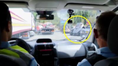 Quand des Gendarmes contrôlent une Batmobile de 560 ch
