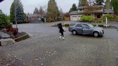 Une voleuse de colis prise en flagrant délit par la propriétaire
