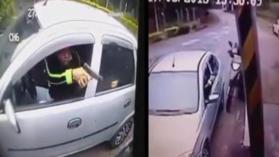 Deux voleurs se retrouvent dans une situation compliquée quand la victime sort une arme