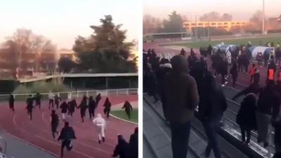Les joueurs d'Amiens se font agresser par des supporters parce qu'ils ont gagné contre Saint-Denis