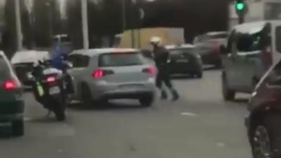 Un policier tire avec son arme sur un automobiliste qui prend la fuite en Île-de-France