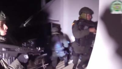 La police colombienne diffuse les images de l'arrestation d'un célèbre chef de cartel