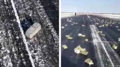 Un avion perd sa cargaison de lingots d'or et d'argent au décollage