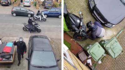 Il filme 4 personnes qui tentent de voler sa moto devant chez lui en pleine journée