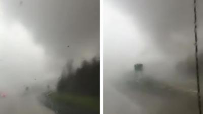 Une tornade provoque un violent accident de voiture dans l'Arkansas