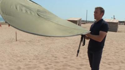 Deux toulousains ont inventé le premier parasol qui ne s'envole pas