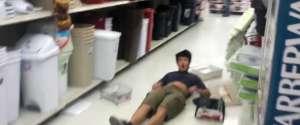 Fail : Faire un backflip sur une étagère d'un magasin