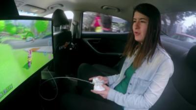 Quand des taxis proposent de jouer à Mario Kart à l'arrière de leur taxi