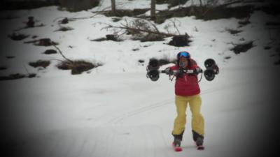 Skier à 86 km/h sur du plat avec un propulseur