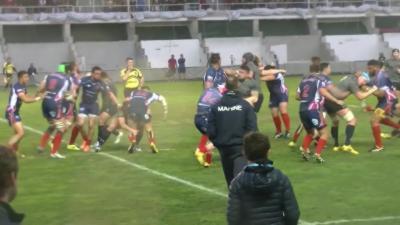 Rugby : Bagarre générale entre la Marine Nationale et les Royal Navy