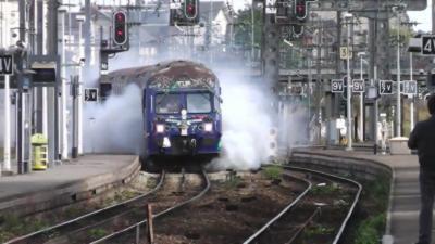 Une surprise attend un conducteur de train qui part à la retraite