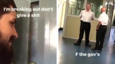 Un Anglais s'échappe d'une prison et poste tout dans sa story Snapchat
