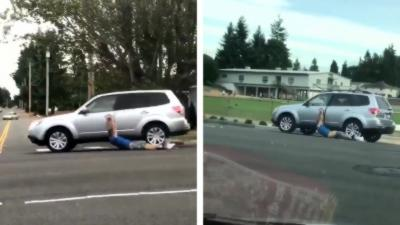 Un homme rate son carjacking mais ne veut pas lâcher la voiture et se fait traîner sur plusieurs mètres