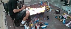 Peinture à la bombe par un artiste de rue incroyable