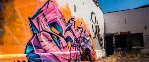 Le graffeur Sofles tague entièrement un entrepôt