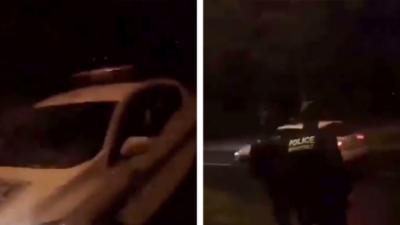 Un jeune de quartier prend une voiture de la Police Municipale pour rigoler