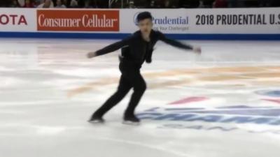 Un patineur met le feu en choisissant la musique « Turn Down For What » lors de son passage