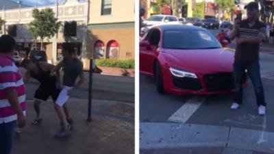 Un homme se bat avec le propriétaire d'une Audi R8 parce qu'elle est « trop bruyante »