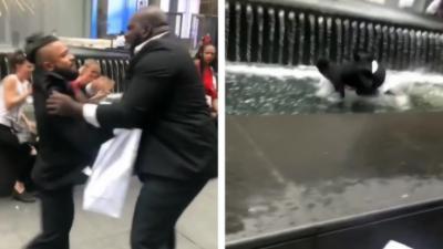Un chauffeur Uber jette un de ses clients dans une fontaine